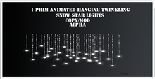 animated poofy star hanging lights