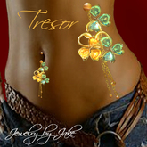 185a Tresor - Belly Ring Green/Yellow - Jewelry by jake