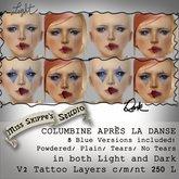 Columbine Apres La Danse: Blue Makeup by Miss Shippe's Studio