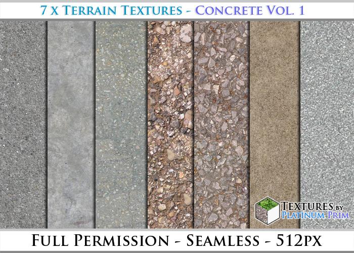 Terrain Textures: Concrete Vol. 1 - Full Permissions