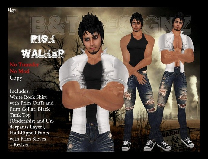 ♡ Bliss Designs ~ Unisex ~ Risk Walker ~ Sexy Outfit Looks Great On Men & Women ~ Casual Pants & Shirts
