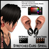 *GD* - Ear Stretched - Spiral