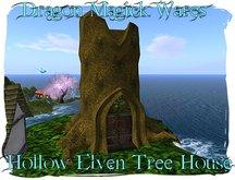 PROMO Dragon Magick Wares Fantasy Hollow Elven Tree House Fantasy Fairy
