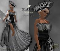 Ecarlate - Esmaelle - Gown Formal - Black / Robe formelle