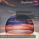 Full Perm Skydome V.1 with Sky and Ground textures - Menu Driven - Copy-Modify