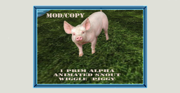 Animated 1 prim alpha pig