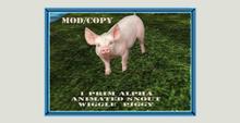 Animated 1 prim alpha pig