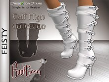 Bootgasm Feisty Calf High Boots White CLEARANCE SALE 50% OFF LIMITED TIME