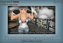 [croire] Cumulonimbus Collection (necklace and brooch set) Unique kitsch geeky science nerdy earth nature big necklace.