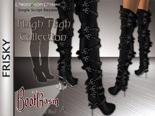 Bootgasm Frisky Thigh High Boots Black