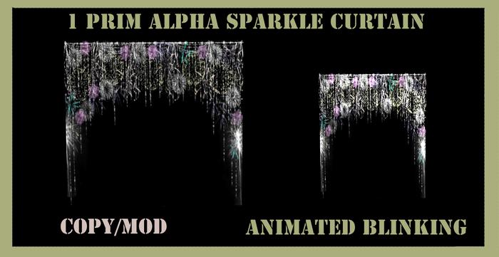 animated blinking sparkle curtain