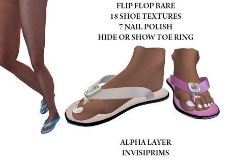 [AL] Flip Flop Bare - Multi Texture