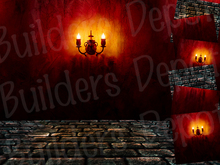 SALE! FULL PERM Red Goth Seamless Room Textures