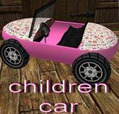 full perm children car pink animated