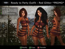 BSN Ready to Party Outfit - Red Glitter *PROMO*