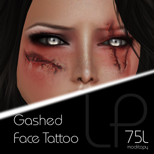 :Little Pricks: Gashed Face Tattoo
