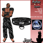 JariCat Rafiqa Male Silks - Black