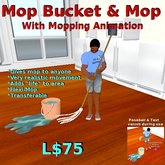 Mop w/bucket(gives mop-animated)