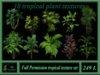 10 tropical plant textures