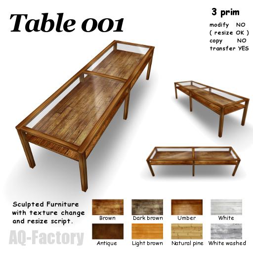 *AQF* Table 001 Rev.3 BOX
