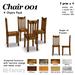 *AQF* Chair 001 BOX (Value Pack 4)
