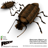 Rocket Creations Brown Beetle - Insect Steampunk fantasy