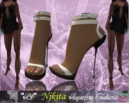 **SD** -NJKITA- Super Sexy High Heels Shoes - Creme