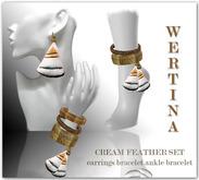 WERTINA Cream Feather Set