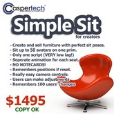 CasperTech SimpleSit Sitter - Set perfect sit poses for your creations - EASILY!