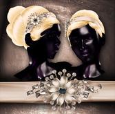 (Paper Couture) Jeweled Headband Updo - Platinum