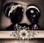 (Paper Couture) Jeweled Headband Updo - Black