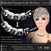 < Yabusaka >  Alphabet Changer Cube Necklace (5 Letters)