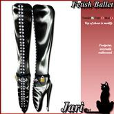 JariCat Ballet Knee Boots with walksound - Black