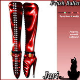 JariCat Ballet Knee Boots with walksound - Red