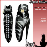 JariCat Ballet Ankle Boots with walksound - Black