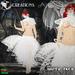 [Aliza Karu] White face dress white 560