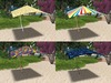 Sun Umbrella 4 Sided (3 prims only)