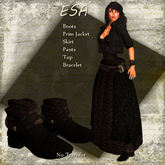 Esa Expresso Leather Dress Set by Eruption TagFantasy