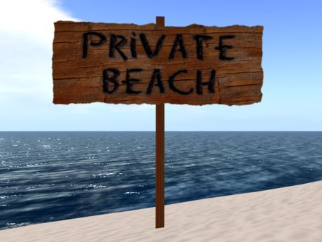 Private Beach Sign Old Wood