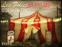 POST: Les Folies - Vintage Sideshow, Circus Tent & Stage