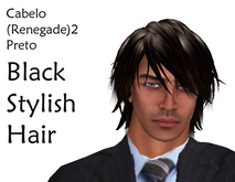 Cabelo Renegade2 preta Black Stylish Hair