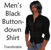 Men's Black Buttondown Shirt