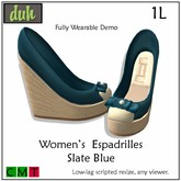 ::Duh!:: Women's Espadrilles - Slate Blue (Wearable Demo)