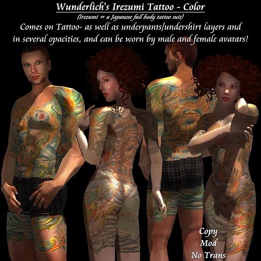Wunderlich's Irezumi Tattoo - Color