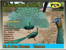 Most Realistic  Green Peacock Sculpted Animated   Bird animal