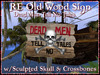 RE Old Wood Pirate Sign w/Skull & Crossbones - Dead Men Tell No Tales