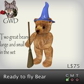 GWD Ready to Fly Wizard Bear Large & Small (Box)