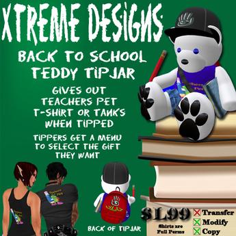 Back To School Teddy TipJar