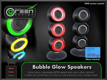 ●GD● Bubble Glow Speakers [Multi Glow Color, BPM & Access Control] Black