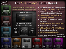 Riders All N' 1 Raffle Board - Packed with Options, Fully Customizable Functions and Appearance, One of a Kind!